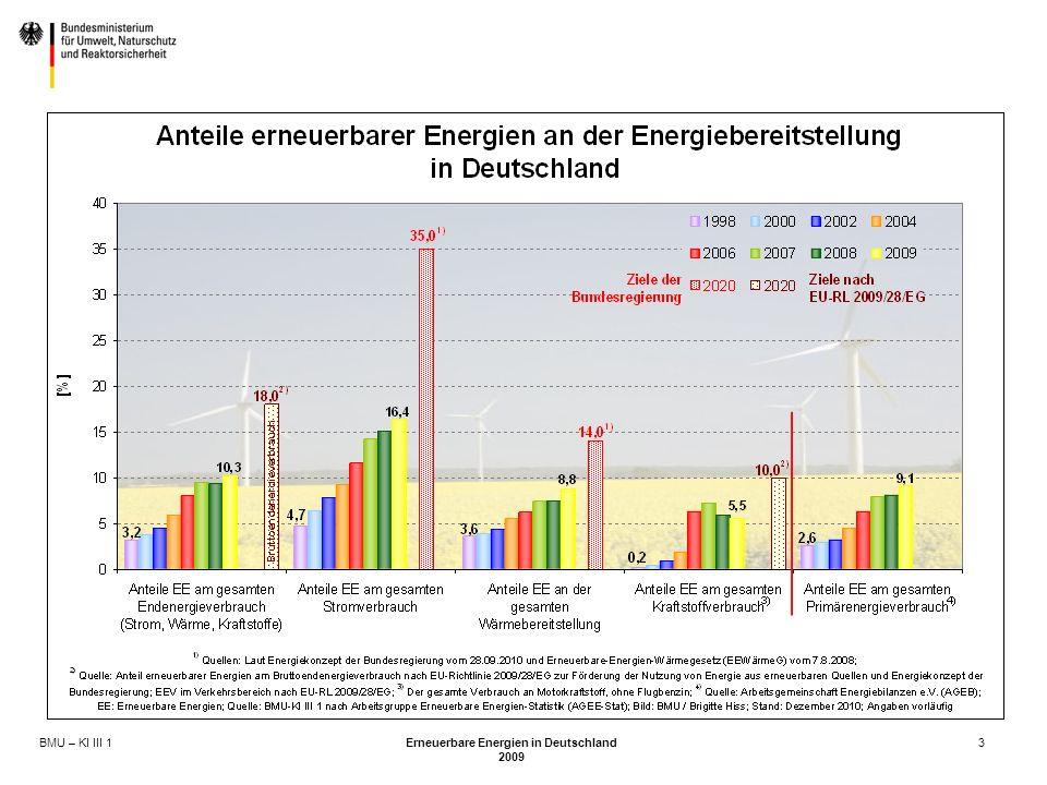 BMU – KI III 1 Erneuerbare Energien in Deutschland 2009 3