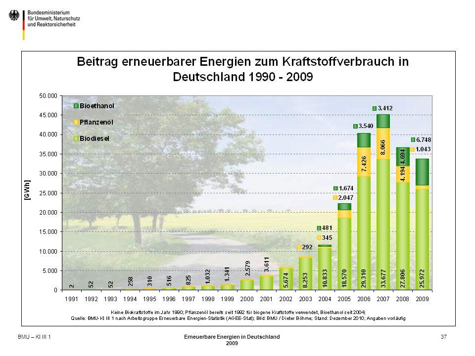 BMU – KI III 1 Erneuerbare Energien in Deutschland 2009 37