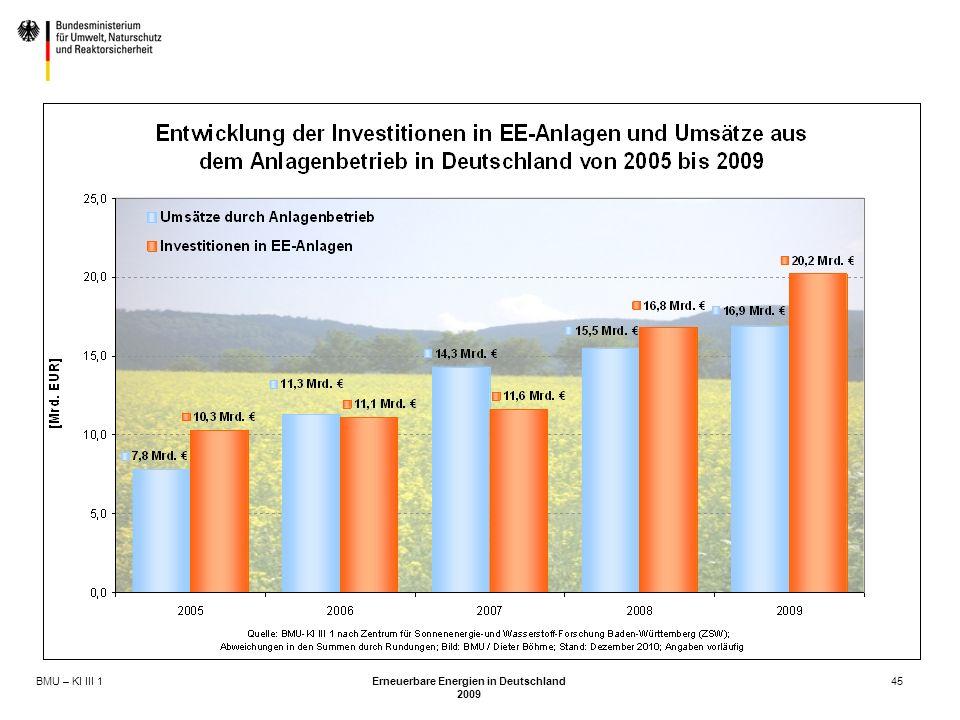 BMU – KI III 1 Erneuerbare Energien in Deutschland 2009 45