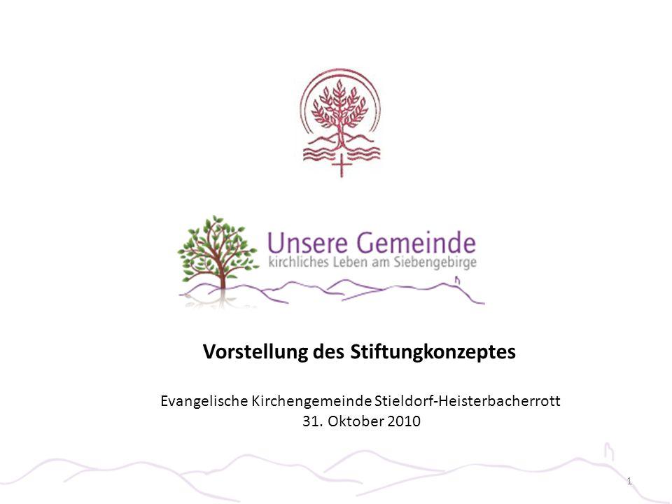 Evangelische Kirchengemeinde Stieldorf-Heisterbacherrott 31. Oktober 2010 Vorstellung des Stiftungkonzeptes 1