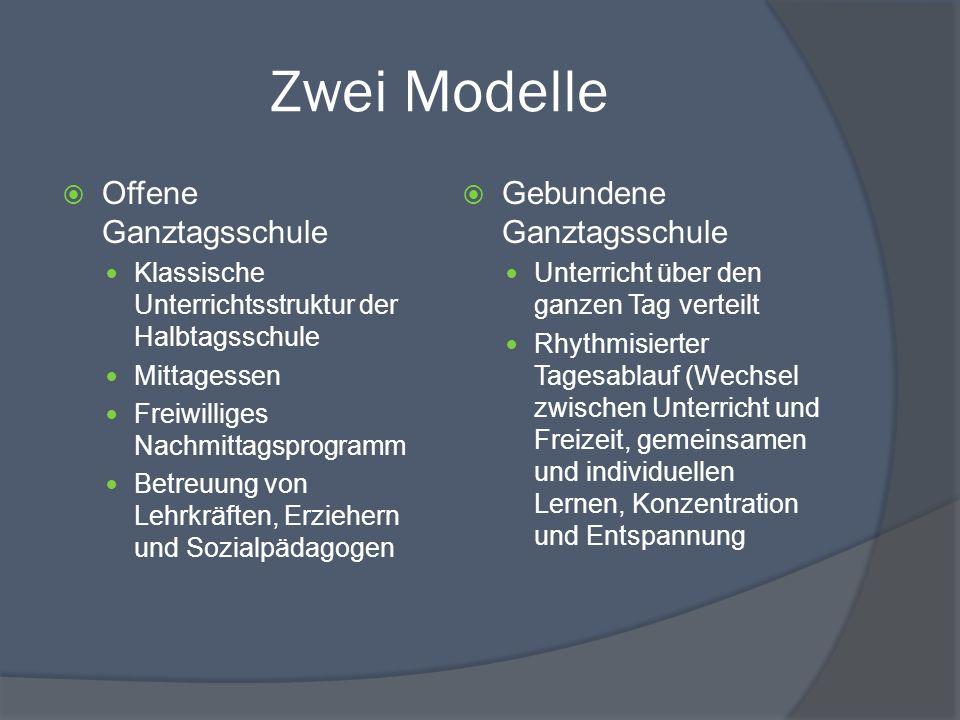 Stundenplan einer offenen Ganztagsschule Beispiel-Stundenplan für eine offene Ganztagsschule 6.