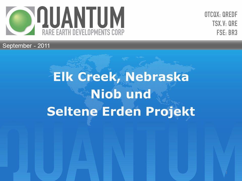 Elk Creek, Nebraska Niob und Seltene Erden Projekt September - 2011 1