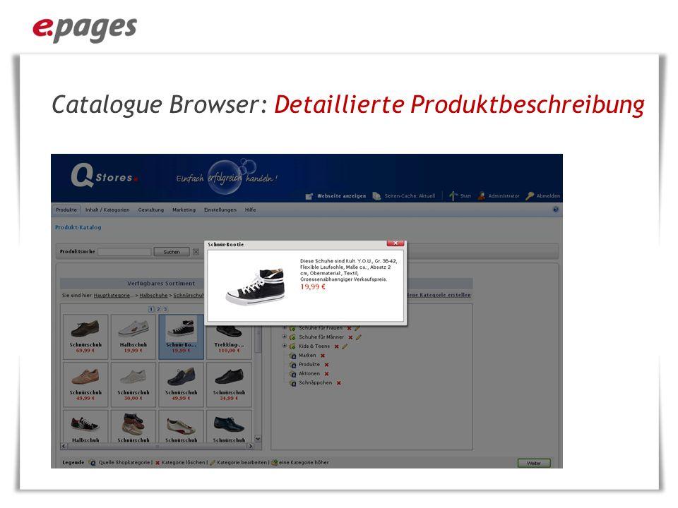 Storefront: Detaillierte Produktansicht