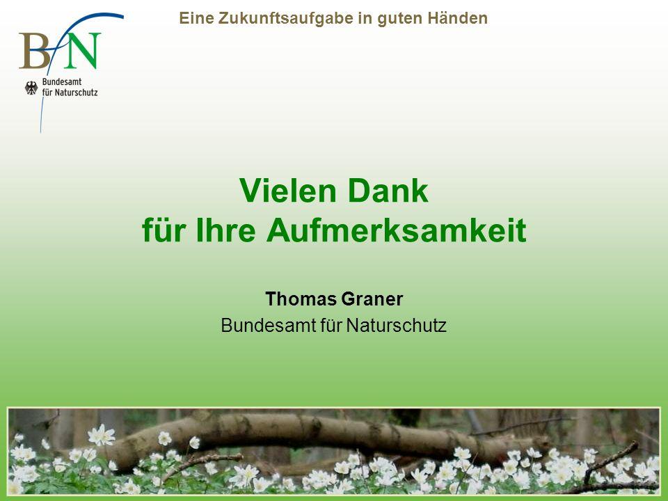 Eine Zukunftsaufgabe in guten Händen Vielen Dank für Ihre Aufmerksamkeit Thomas Graner Bundesamt für Naturschutz