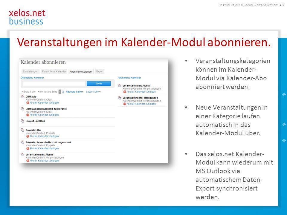 Ein Produkt der blueend web:applications AG Kontakt T.