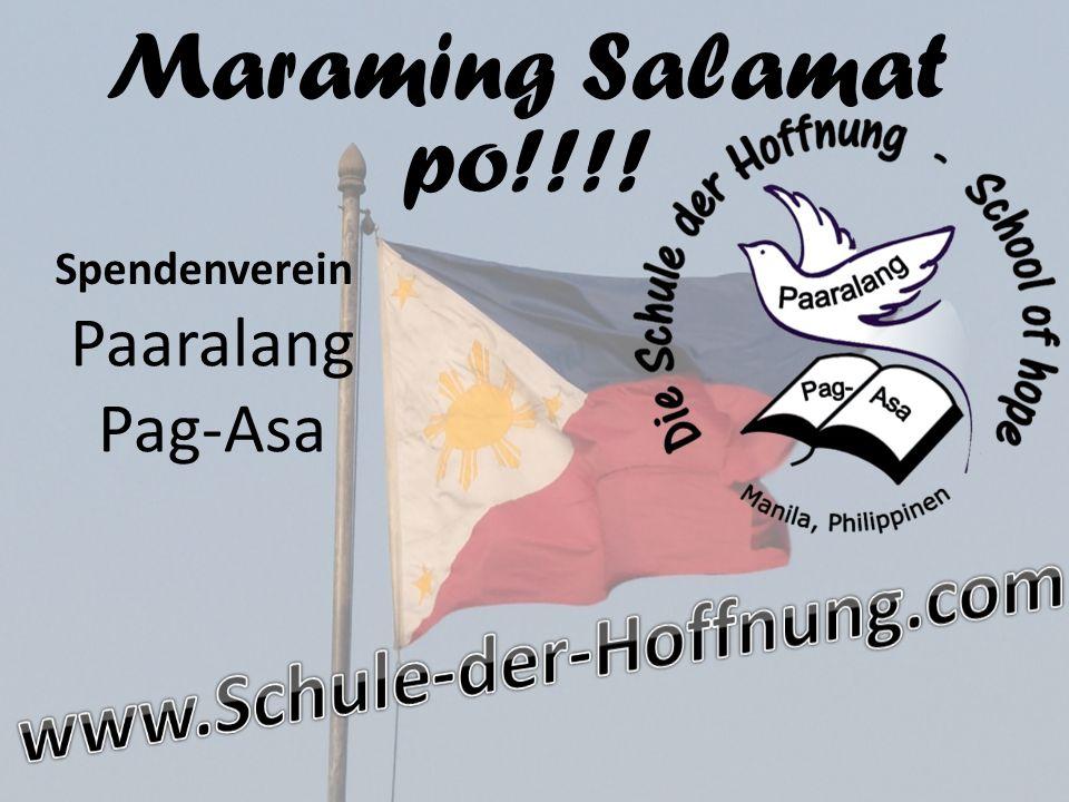 Maraming Salamat po!!!! Paaralang Pag-Asa Spendenverein