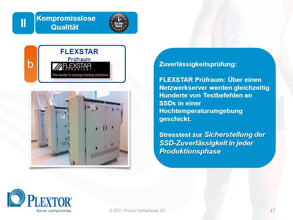 b FLEXSTAR Prüfraum Zuverlässigkeitsprüfung: FLEXSTAR Prüfraum: Über einen Netzwerkserver werden gleichzeitig Hunderte von Testbefehlen an SSDs in einer Hochtemperaturumgebung geschickt.