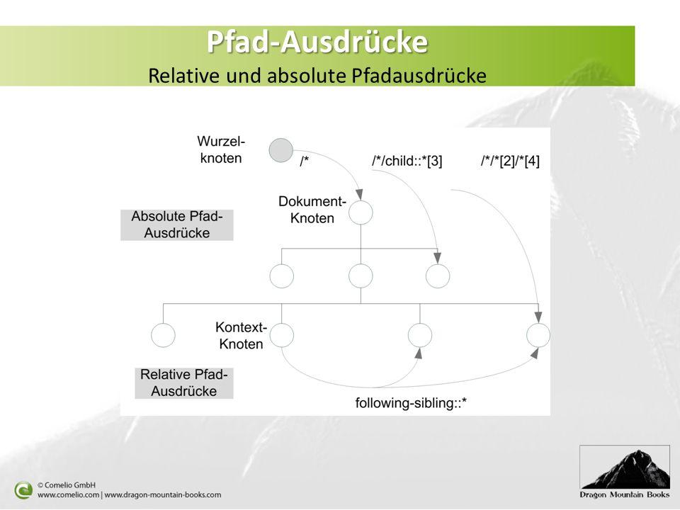 Pfad-Ausdrücke Pfad-Ausdrücke Relative und absolute Pfadausdrücke