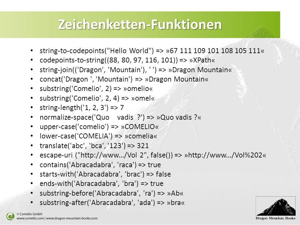 Zeichenketten-Funktionen string-to-codepoints(