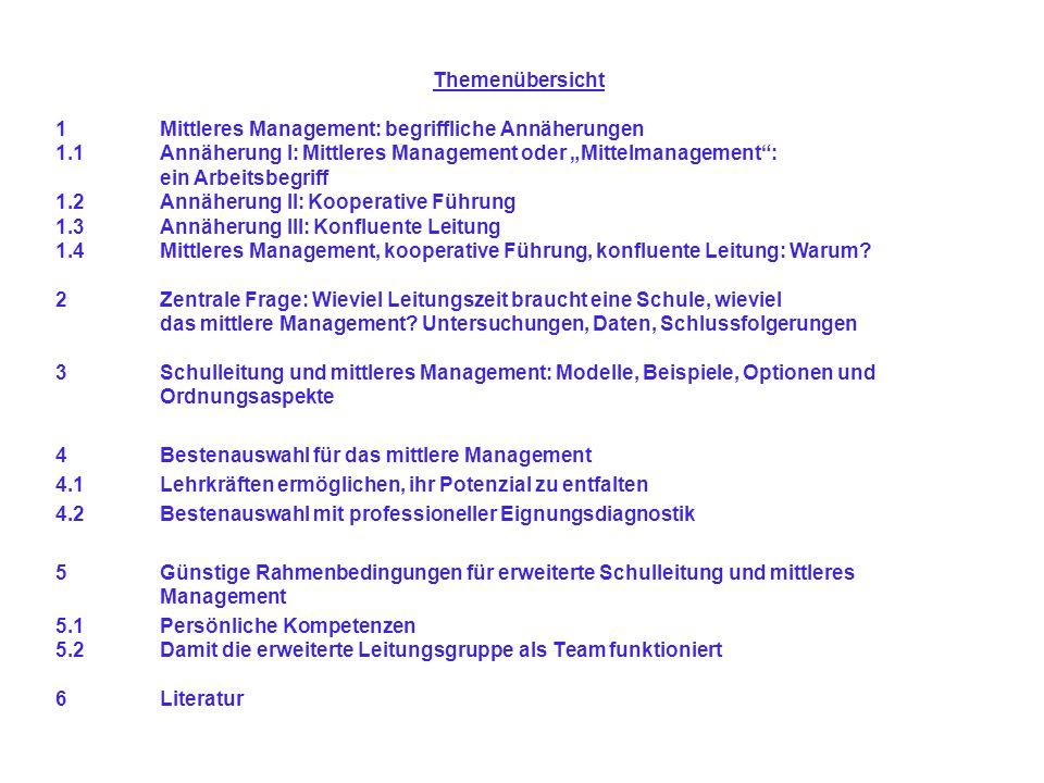 1.4Mittleres Management, kooperative Führung, konfluente Leitung: Warum.