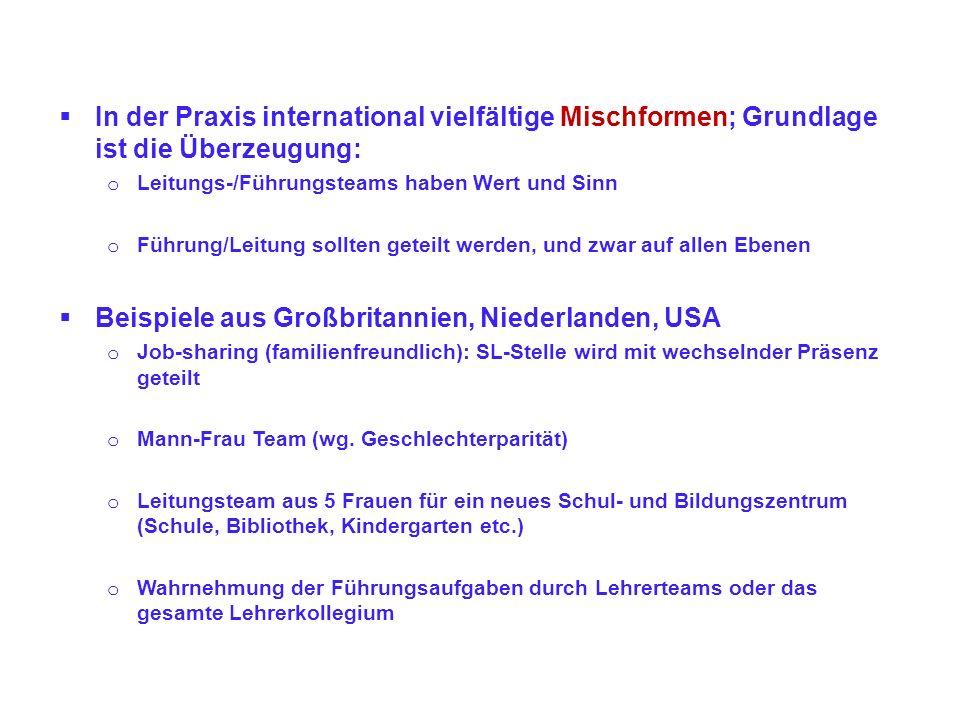 Mittleres Management auch an kleinen Grundschulen.