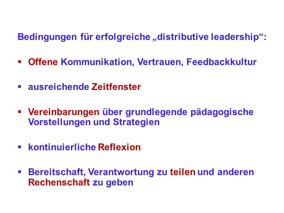 5Günstige Rahmenbedingungen für erweiterte Schulleitung und mittleres Management 5.1Persönlichen Kompetenzen (Anregungen u.a.