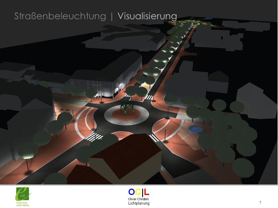 28 Umgesetzte Projekte in der Region: Gemeinde Wagenfeld - Bundesstraße 239 (87 Leuchten) Lichtpunkthöhe 8m Leistung max.