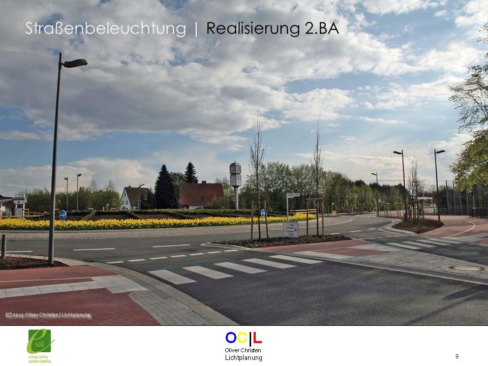 20 Information zu jeder einzelnen Leuchte über Betriebszustand und Energieverbrauch Interaktive Straßenbeleuchtung | Bedieneroberfläche