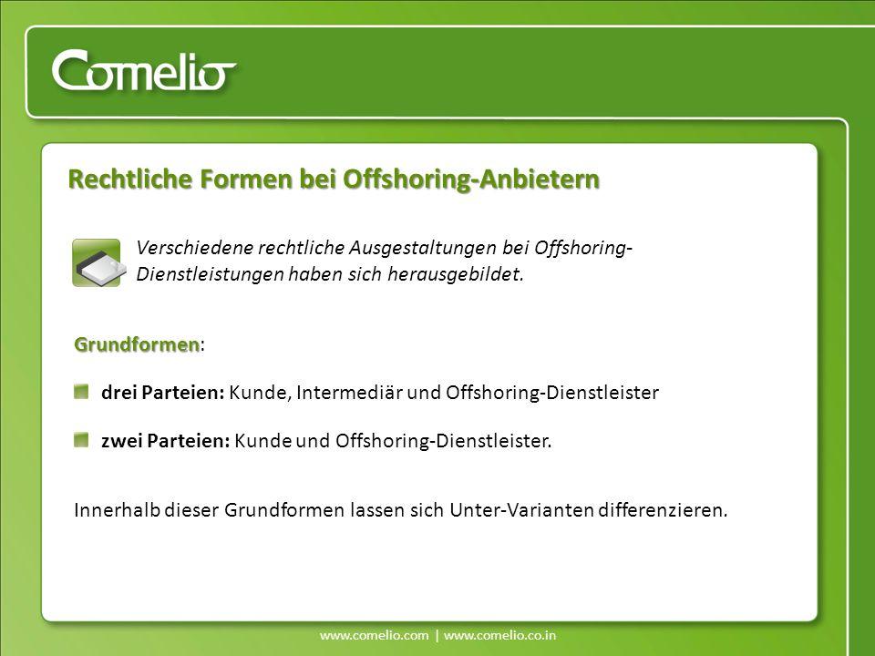 Rechtliche Formen bei Offshoring-Anbietern Verschiedene rechtliche Ausgestaltungen bei Offshoring- Dienstleistungen haben sich herausgebildet. Grundfo