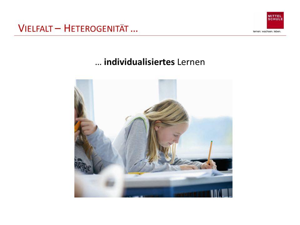 V IELFALT – H ETEROGENITÄT … … individualisiertes Lernen