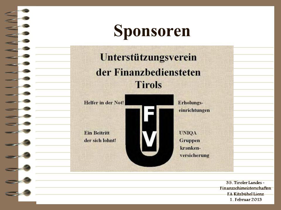 35. Tiroler Landes - Finanzschimeisterschaften FA Kitzbühel Lienz 1. Februar 2013