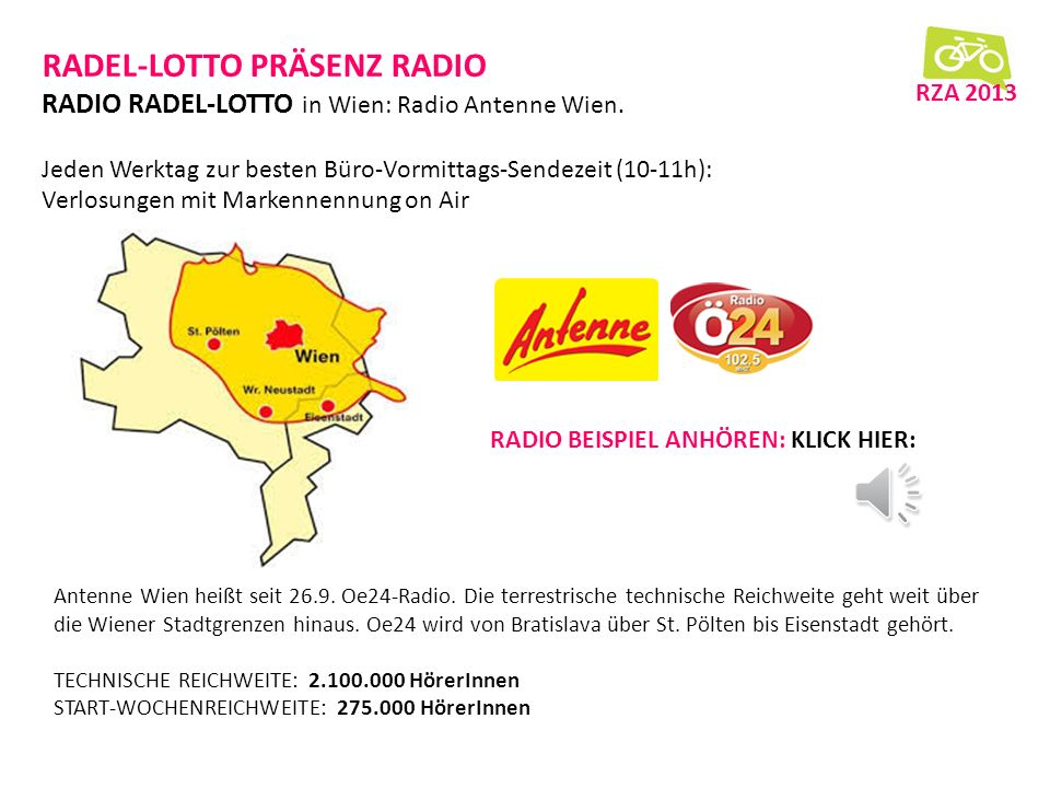 RADEL-LOTTO PRÄSENZ RADIO RADIO RADEL-LOTTO in Wien: Radio Antenne Wien.