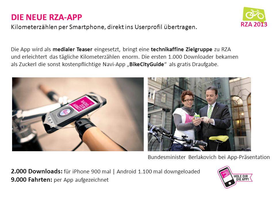 DIE NEUE RZA-APP Kilometerzählen per Smartphone, direkt ins Userprofil übertragen.