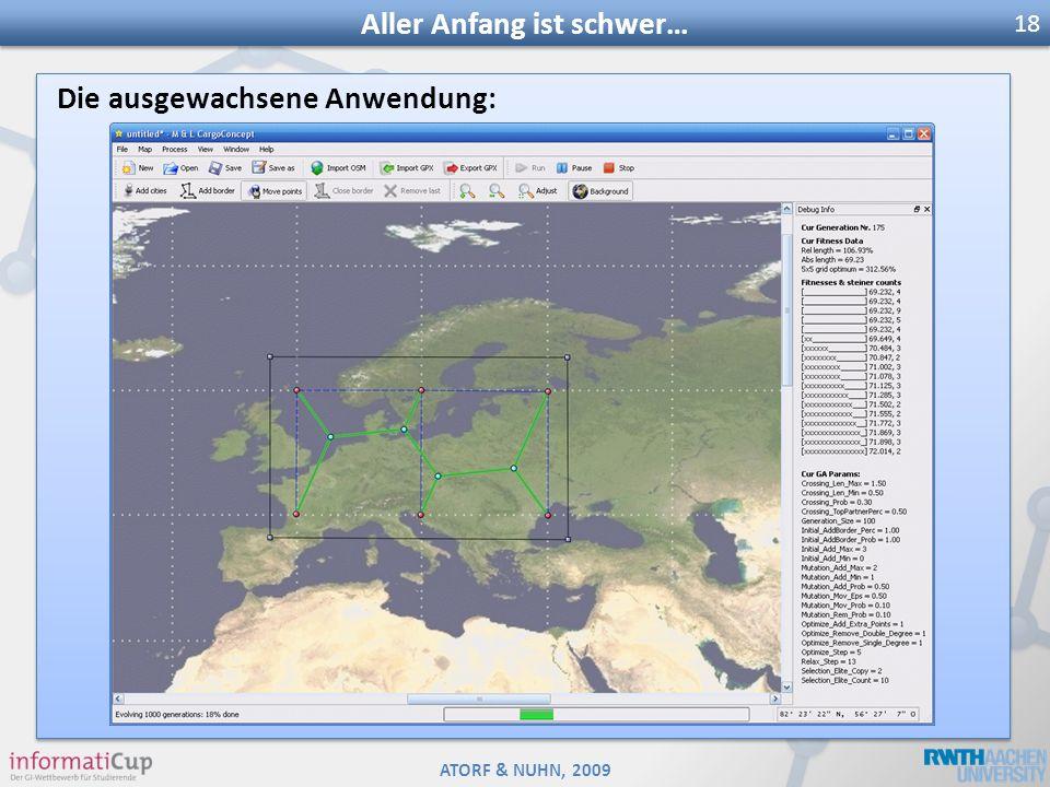 ATORF & NUHN, 2009 Die ausgewachsene Anwendung: Aller Anfang ist schwer… 18