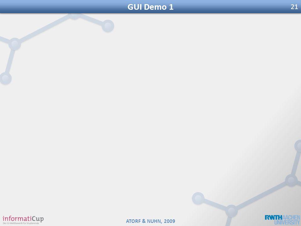 ATORF & NUHN, 2009 GUI Demo 1 21