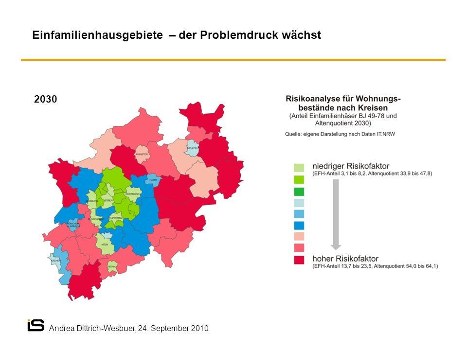 Einfamilienhausgebiete – der Problemdruck wächst 2030 Andrea Dittrich-Wesbuer, 24. September 2010