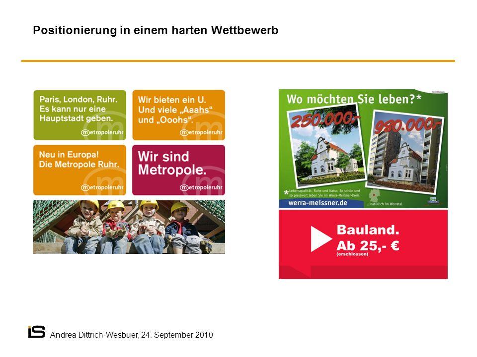 Positionierung in einem harten Wettbewerb Andrea Dittrich-Wesbuer, 24. September 2010