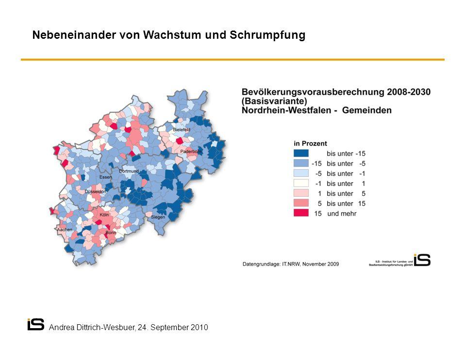 Nebeneinander von Wachstum und Schrumpfung Andrea Dittrich-Wesbuer, 24. September 2010