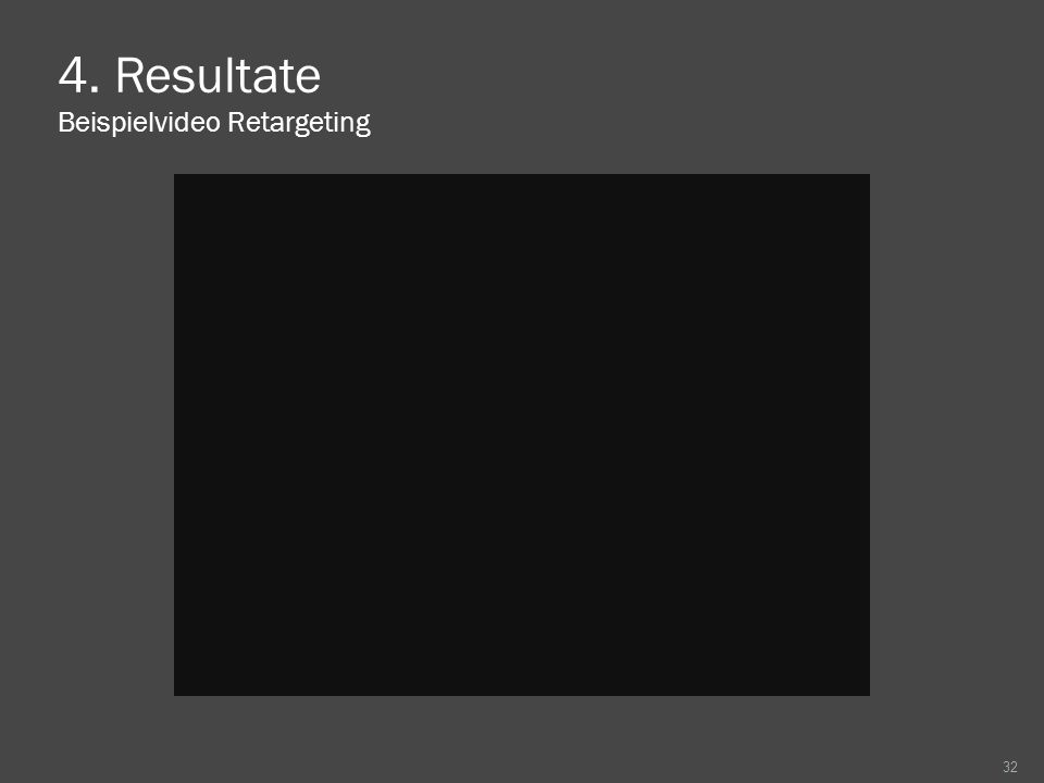4. Resultate Beispielvideo Retargeting 32