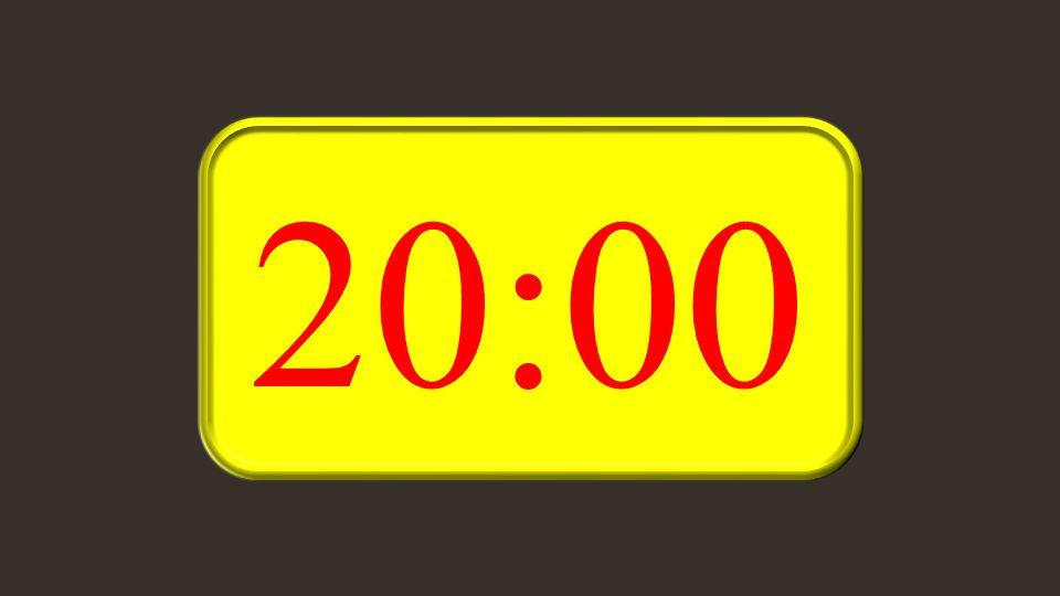 Rückwärtszähler Beginnen bei 20:0010:0005:0001:00 Nur eine Spielerei, nicht für amtliche Zeitmessungen geeignet.