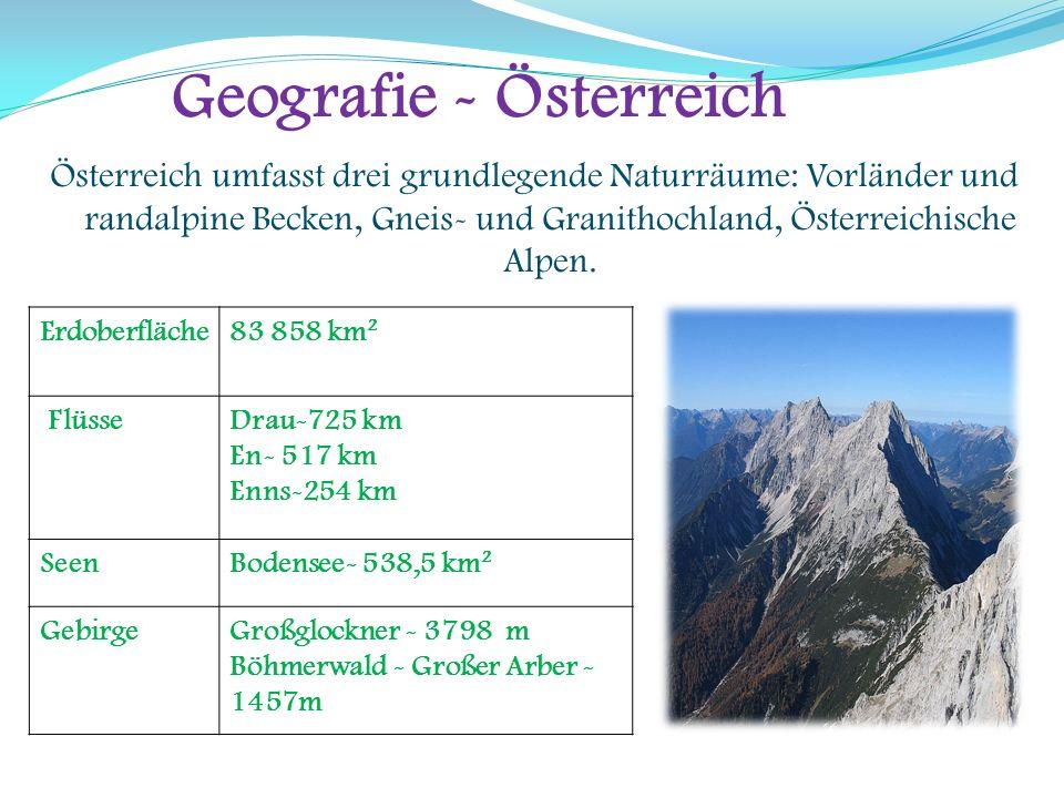 Geografie -die Schweiz Unterschiedliche geologische Phänomene schufen die heutige Landschaft der Schweiz und die Beschaffenheit ihrer Böden.