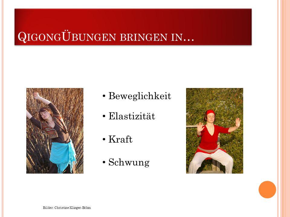Q IGONG Ü BUNGEN BRINGEN IN … Bilder: Christine Klinger-Böhm Beweglichkeit Elastizität Kraft Schwung