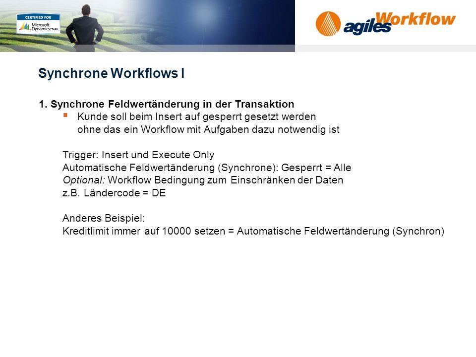 www.agilesworkflow.com Synchrone Workflows I 1.