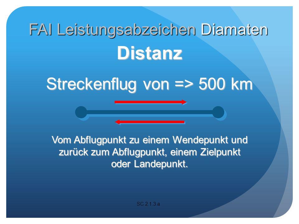 Streckenflug von => 500 km Alle Arten von angesagten Flügen sind möglich.