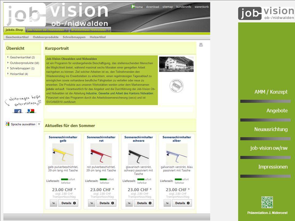 7 AMM / Konzept Angebote Neuausrichtung job-vision ow/nw Impressionen Präsentation J. Nideroest