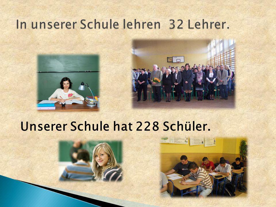 Unserer Schule hat 228 Schüler.