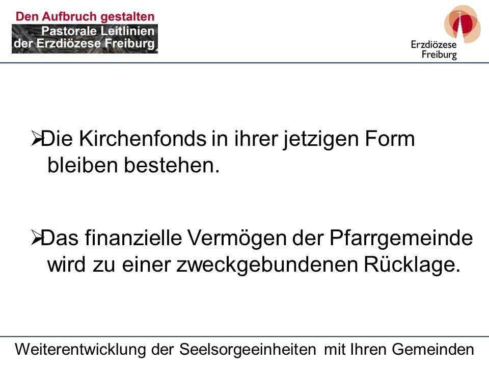 Die Kirchenfonds in ihrer jetzigen Form bleiben bestehen.