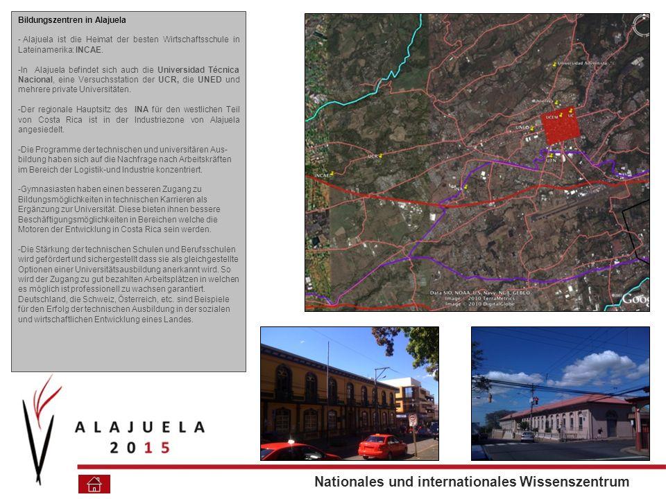 Bildungszentren in Alajuela - Alajuela ist die Heimat der besten Wirtschaftsschule in Lateinamerika: INCAE.