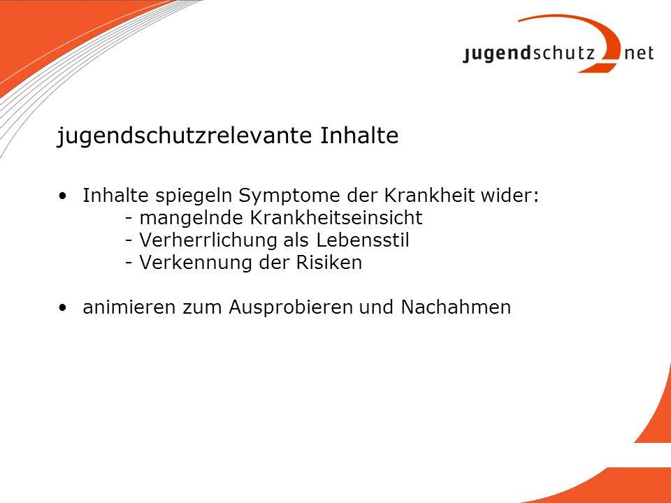 Informationsmaterial Broschüre: Gegen Verherrlichung von Essstörungen im Internet Faltblatt: Wer ist Ana.