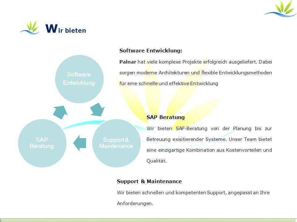 Software Entwicklung: Palnar hat viele komplexe Projekte erfolgreich ausgeliefert. Dabei sorgen moderne Architekturen und flexible Entwicklungsmethode