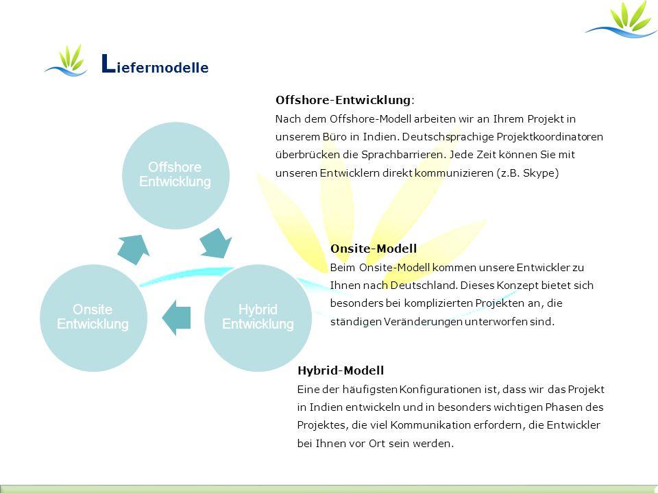 Offshore-Entwicklung: Nach dem Offshore-Modell arbeiten wir an Ihrem Projekt in unserem Büro in Indien. Deutschsprachige Projektkoordinatoren überbrüc