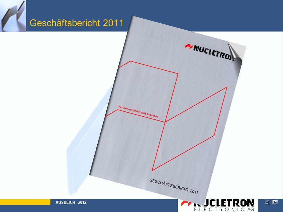 Geschäftsbericht 2011 Abbildung AUSBLICK 2012