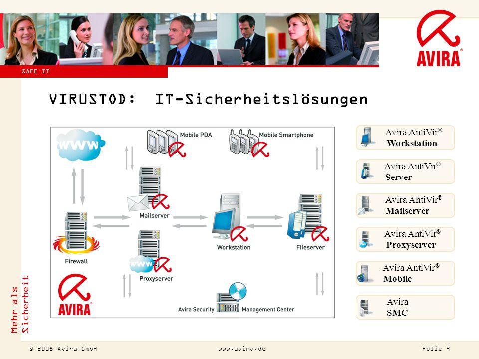 © 2007 Avira GmbH !Diesen Titel bitte auch ändern (Ansicht Master Folienmaster).