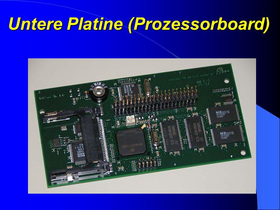 Hardwarebeschreibung Das kompakte System besteht aus 2 Platinen Obere Platine Untere Platine
