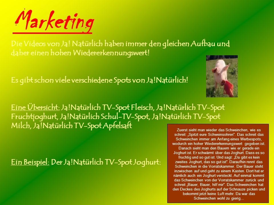 Marketing Die Videos von Ja.