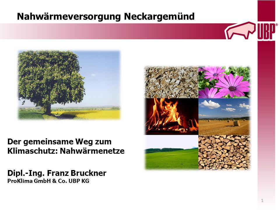 ProKlima GmbH & Co.UBP KG Tel. 06227/54994-0 Ansprechpartner: Franz Bruckner-10 Dr.