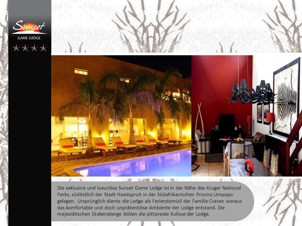 Die Lodge verfügt über 6 individuell gestaltete Räume mit Dusche/Bad WC.