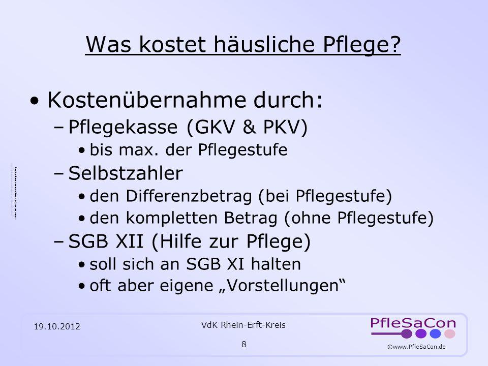 ©www.PfleSaCon.de Stefan Conrads (RbP) Pflegesachverständiger (TÜV) 19.10.2012 VdK Rhein-Erft-Kreis 29 Quellennachweis: AOK Bundesverband –www.aok-bv.de Bundesministerium für Gesundheit –www.bmg.bund.de/cln_117/nn_1168278/DE/Pflege/pflege__node.html?__nnn=t rue Compass Private Pflegeberatung –www.compass-pflegeberatung.de Medizinischer Dienst der Krankenversicherung Nordrhein –www.mdk-nordrhein.de Presseerklärung MDS & GKV-Spitzenverband vom 02.03.2009 / 09.03.2009 –www.mds-ev.org/3184.htmwww.mds-ev.org/3184.htm Modelpflegestützpunkt NRW –http://www.werkstatt-pflegestuetzpunkte.de/nordrhein-westfalen-moenchengladbach.htmlhttp://www.werkstatt-pflegestuetzpunkte.de/nordrhein-westfalen-moenchengladbach.html Landesstelle Pflegende Angehörige –http://www.lpfa-nrw.de/startseite.htmlhttp://www.lpfa-nrw.de/startseite.html AWO Seniorenzentrum Bergheim – Kenten / Pflegesätze 01.06.-31.12.2012 –http://www.pflege-rheinerft.de/pdf/Bergheim-Kenten_Pflegesaetze.pdfhttp://www.pflege-rheinerft.de/pdf/Bergheim-Kenten_Pflegesaetze.pdf WDR Servicezeit – Thema Pflegestützpunkte vom 18.04.2012 –http://www.wdr.de/tv/servicezeit/sendungsbeitraege/2012/kw16/0418/02_pflegestuetzpunkt e.jsp