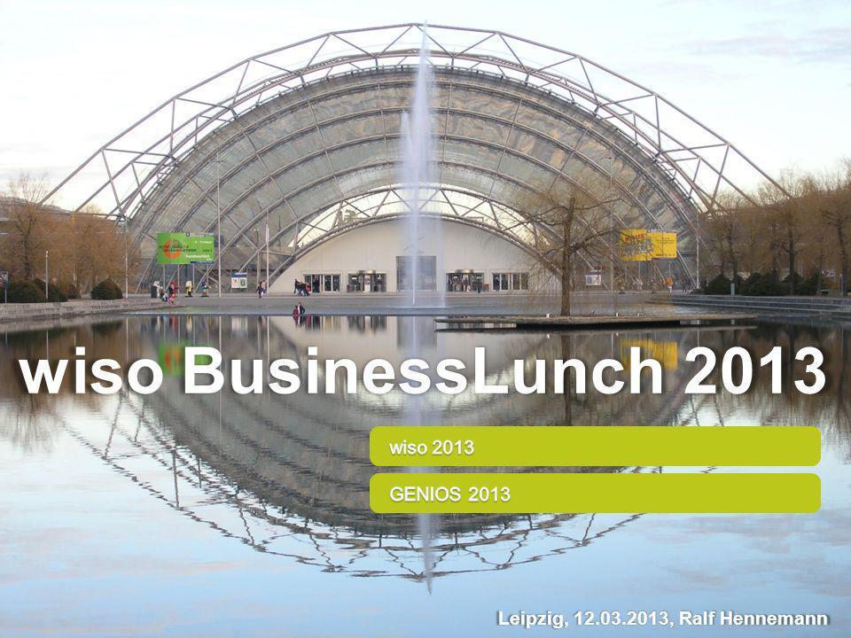 wiso BusinessLunch 2013 Leipzig, 12.03.2013, Ralf Hennemann