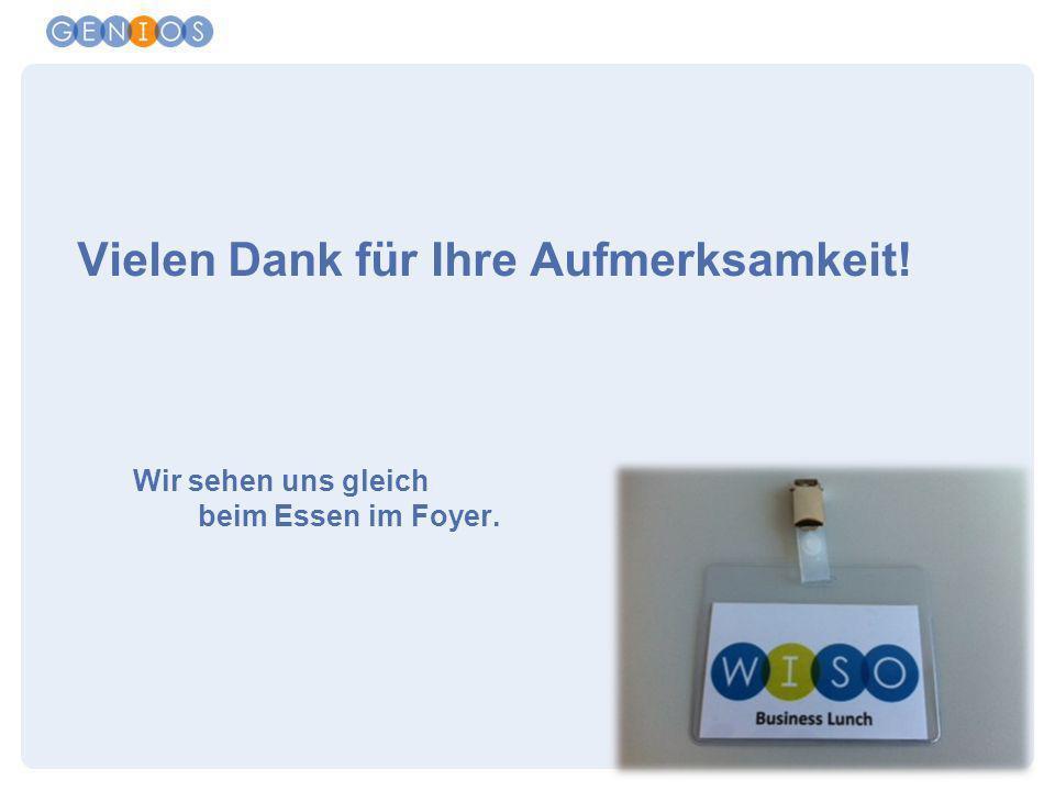 GBI-Genios Deutsche Wirtschaftsdatenbank GmbH | München 2013| 28 Vielen Dank für Ihre Aufmerksamkeit! Wir sehen uns gleich beim Essen im Foyer.